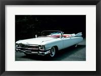 Framed 1950s 1959 El Dorado Biarritz Cadillac Convertible