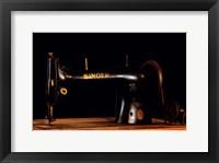 Framed Antique Singer Sewing Machine
