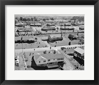 Framed 1950s 1960s Aerial View Of Suburban Housing