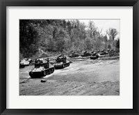 Framed 1940s World War Ii 12 Us Army Armored Tanks