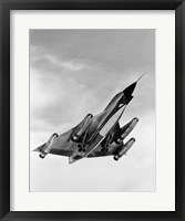 Framed 1960s B-58 Bomber In Ascent