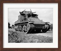 Framed 1940s World War Ii Era Us Army Tank