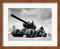 Framed 1940s Army Track Laying Vehicle