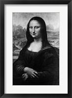 Framed Leonardo Da Vinci'S Mona Lisa 16Th Century Painting