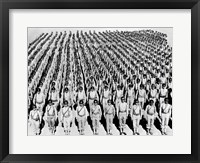 Framed 1940s Wwii Large Formation U.S. Army Infantry Soldiers