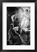 Framed He Is Risen By Plockhorst Angel Mary