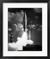 Framed 1960s Atlas Icbm Launch
