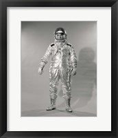 Framed 1960s Standing  Portrait Of Astronaut In Space?