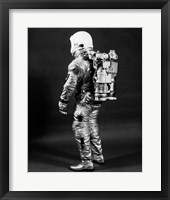 Framed 1960s Side View Of Astronaut