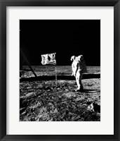 Framed 1969 Astronaut Us Flag