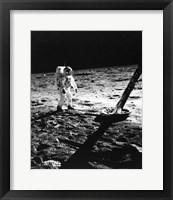 Framed 1960s Astronaut Buzz Aldrin In Space