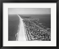 Framed 1970s 1980s Aerial Of Jersey Shore