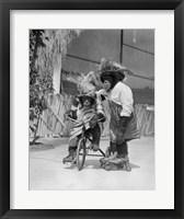 Framed 1930s Two Chimpanzees Monkeys
