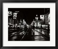 Framed 1950s Night Scene Canal Street New Orleans Louisiana Usa