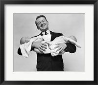 Framed 1930s Proud Father Smiling