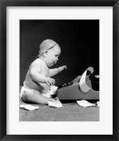 Framed 1960s Side View Of Chubby Baby