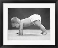 Framed 1950s Baby Girl Push Up