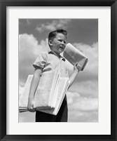 Framed 1930s Newspaper Boy