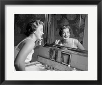 Framed 1950s Smiling Woman
