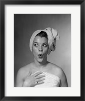 Framed 1950s Woman Making Funny Face Expression