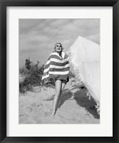 Framed 1960s Blond Bathing Beauty