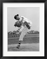 Framed 1950s Teen In Baseball Uniform