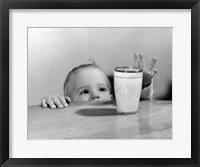 Framed 1950s Toddler Reaching Up