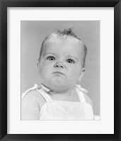 Framed 1950s 1960s Portrait Baby Angry