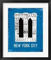 Framed Iconic NYC V