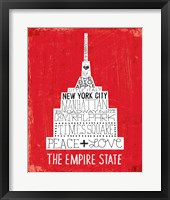 Iconic NYC IV Framed Print