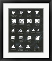 Framed Laundry Room Icons