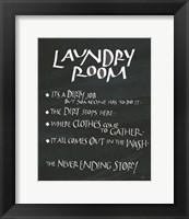 Framed Laundry Room Sayings