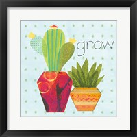 Framed Southwest Cactus II