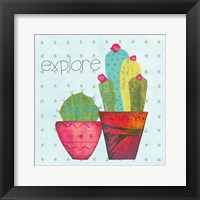 Framed Southwest Cactus I