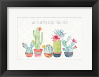 Framed Sweet Succulents I