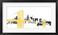 Framed Skyline Crossing Yellow