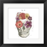 Framed Floral Skull II