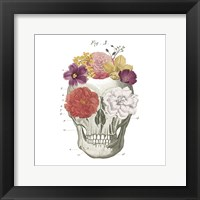 Framed Floral Skull I