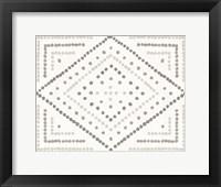 Framed Daisy Dots Tile II Neutral
