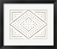 Framed Daisy Dots Tile II Neutral