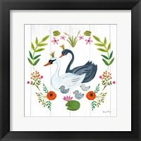 Framed Swan Love IV