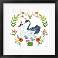 Framed Swan Love IV