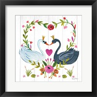 Framed Swan Love III