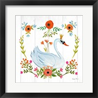 Framed Swan Love I