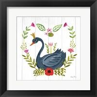 Framed Swan Love II