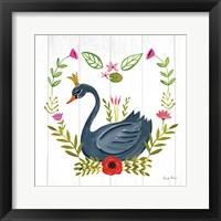 Framed Swan Love II
