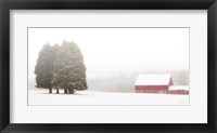 Framed Winter Farm