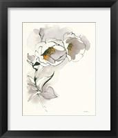 Framed Carols Roses II Taupe
