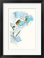 Framed Carols Roses II Blue