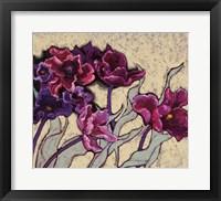 Framed Ruffled Tulips Beige